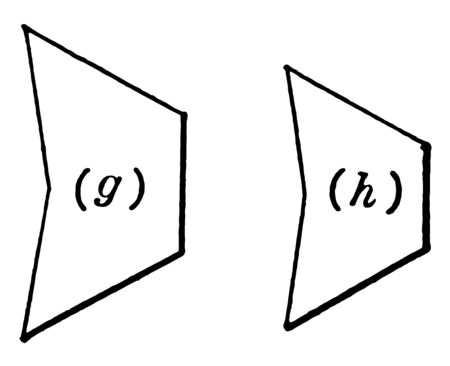 A diagram of two pentagons that is similar to each other, vintage line drawing or engraving illustration.