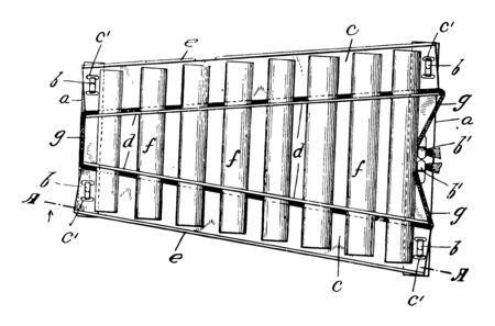 Musical Xylophone instrument with wooden bars tuned to produce a chromatic scale and with resonators, vintage line drawing or engraving illustration. 向量圖像