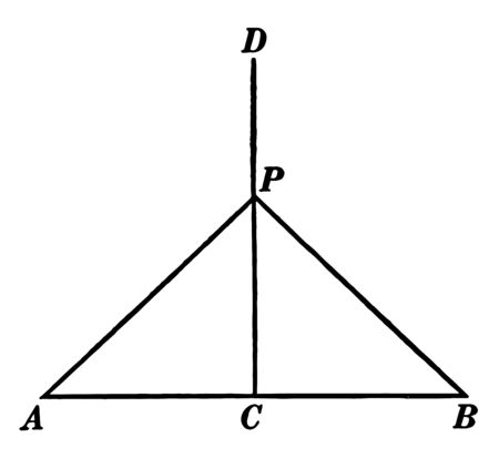 An image showing a perpendicular bisector of a triangle extended outside of the triangle, vintage line drawing or engraving illustration. Çizim