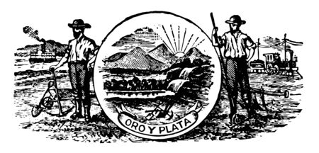 Montana great seals outer ring contains the text