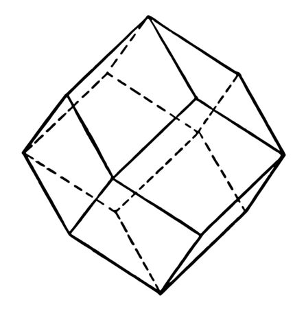 Dodecahedron is a three-dimensional shape that produces 12 flat faces. There are many different types of dodecahedra, vintage line drawing or engraving illustration. 向量圖像