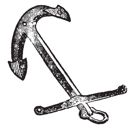 Rodger Anchor marked a great departure from the form of previous anchors, vintage line drawing or engraving illustration.