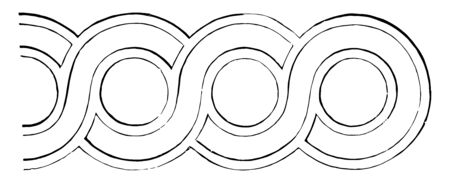 The ornaments made by two or more bands turned out to be strange to each other in a series, vintage line drawing or engraving illustration. Illusztráció