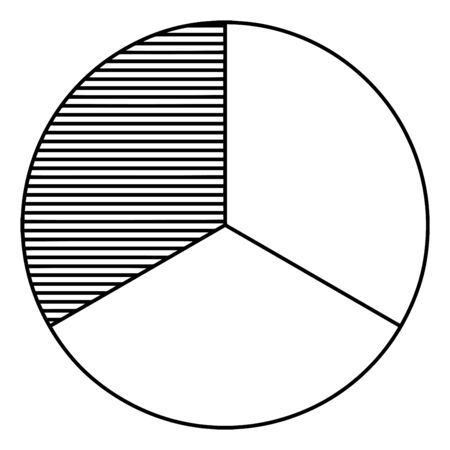 A picture showing 13 circle. In this image One third part is shaded other parts are simple and blank, vintage line drawing or engraving illustration. Illusztráció