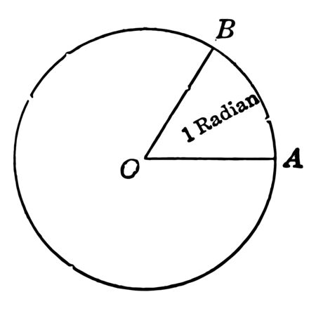 An image that shows a circle with radian. In this circle, create the BOA triangle, vintage line drawing or engraving illustration.