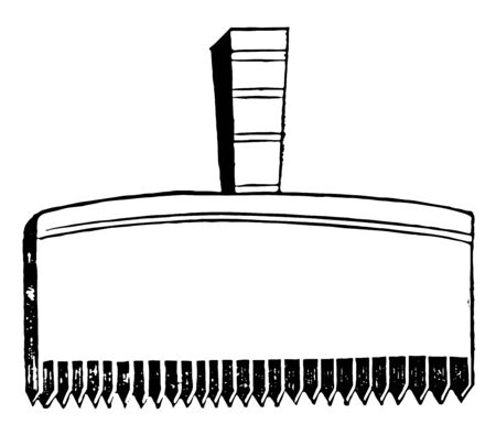 A figure of a flax-comb used by the ancient Egyptians, vintage line drawing or engraving illustration.