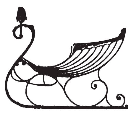 Shell body cutter is the late styles of fashionable carriages and sleighs, vintage line drawing or engraving illustration. Çizim
