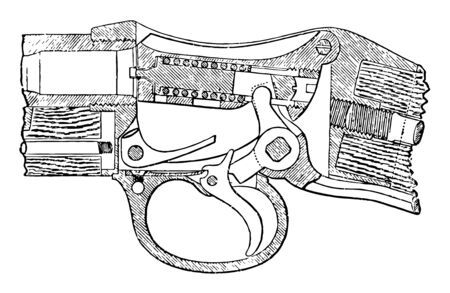 This image represents Martini Breech, vintage line drawing or engraving illustration. Reklamní fotografie - 133362286