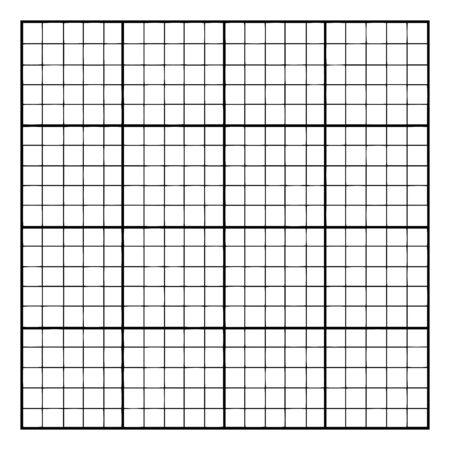 Image of a grid of 20 by 20, composed of grids of 16 smaller units, vintage line drawing or engraving illustration. Ilustração