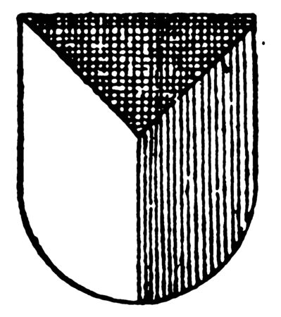 Per Pall Ordinary is a simple geometrical figure, vintage line drawing or engraving illustration.