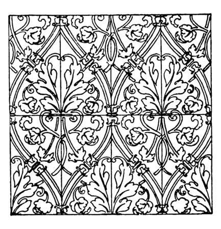 Textile Pattern is a German Renaissance design, simple and complex patterns in printed textile fabrics are perceived and expressed verbally, vintage line drawing or engraving illustration.