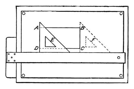 Drawing Rectangles used in conjunction as an assortment of path drawing functions and going to add some things to the setup, vintage line drawing or engraving illustration. Illustration