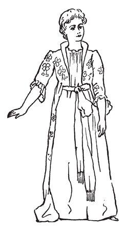 A gesture of denying or rejecting, vintage line drawing or engraving illustration