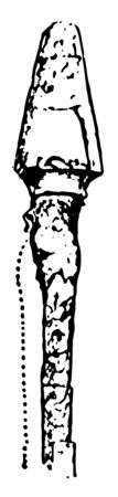 Aulos Mouthpiece was an ancient Greek wind instrument, vintage line drawing or engraving illustration. Standard-Bild - 132979123