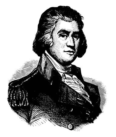 Samuel Smith, 1752-1839, he was a United States senator and representative from Maryland, mayor of Baltimore, Maryland, and general, vintage line drawing or engraving illustration Illustration