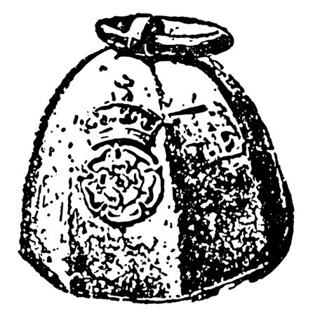 Hundred kg weights are also known as quintal. It is a United States customary unit of weight for various values. This form of weight was also used in Imperial system in British Commonwealth, vintage l  イラスト・ベクター素材
