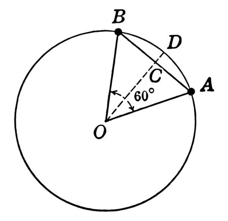 A circle diagram with sector and segment used to find area, vintage line drawing or engraving illustration. 일러스트
