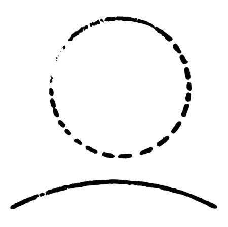 An image that shows a circle with the arc drawn and labeled. An arc is any part of the circumference of a circle, vintage line drawing or engraving illustration.
