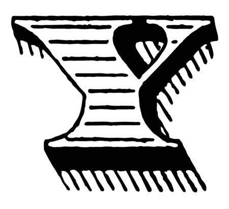 This illustration represents Shaded initial of Y, vintage line drawing or engraving illustration.