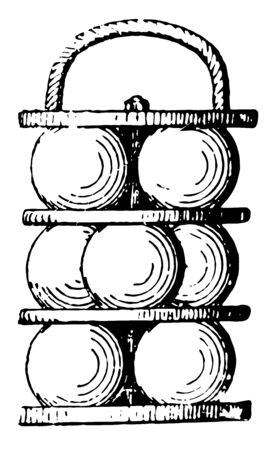 Grapeshot having much of the destructive spread of case shot with somewhat of the range, vintage line drawing or engraving illustration.