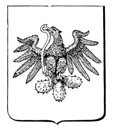 It is an official seal used for official documents from government. It is encarved with eagle eating snake and foots over the cactus vintage line drawing.