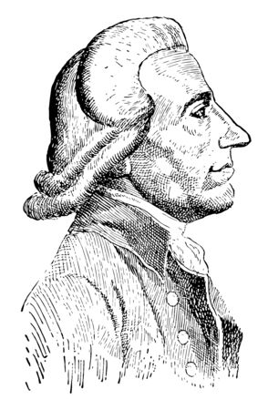 Emmanuel Joseph Sieyes, 1748-1836, he was a French Roman Catholic abb, clergyman and political writer, vintage line drawing or engraving illustration