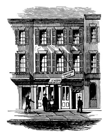 Jacksons Headquarters base was established in 1834 and in 1866 it was renamed I honor Andrew Jackson vintage line drawing. Ilustrace