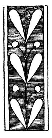 Laurel Branches was used on Greek vases, vintage line drawing or engraving illustration.