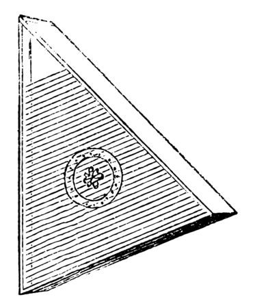The psaltry is a stringed instrument belonging to the harp family, vintage line drawing or engraving illustration.