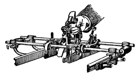 This illustration represents Universal Plane which is used for making the complex shapes, vintage line drawing or engraving illustration.