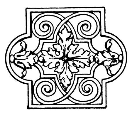 Lattice Panel is a late German Renaissance, vintage line drawing or engraving. Standard-Bild - 132981969