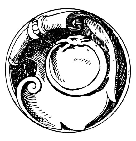 Serpent Symbol is a snake signifying the essence of eternity, vintage line drawing or engraving illustration.