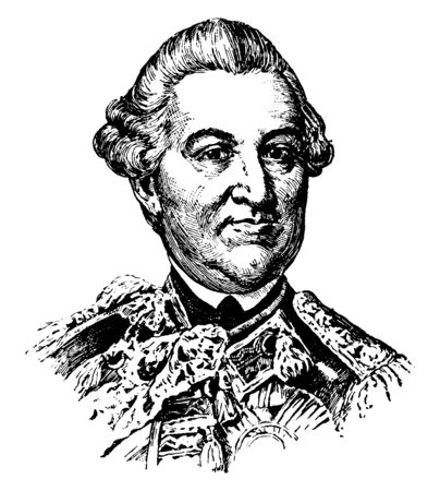 Richard Coote, First Early of Bellomont, he was a member of the English parliament and colonial governor, vintage line drawing or engraving illustration