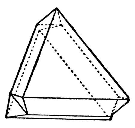 This diagram represents Two Octahedra, vintage line drawing or engraving illustration. Reklamní fotografie - 133404683