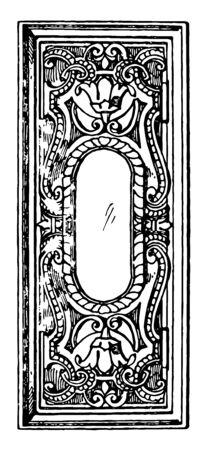 イタリアのルネッサンス建築フレームは、サンジョルジョマッジョーレの屋台のパネルとして使用され、それはすべての側面、ヴィンテージライン
