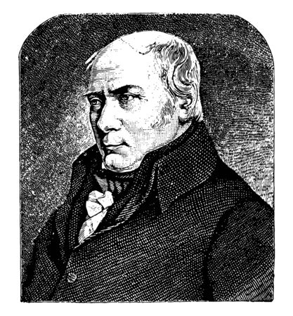 William Smith, 1769-1839, he was an English geologist, credited with creating the first nationwide geological map, vintage line drawing or engraving illustration