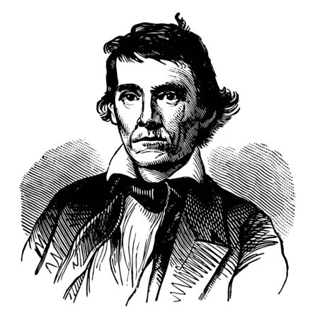 Alexander Hamilton Stephens, 1812-1883, he was an American politician, the vice president of the confederate states of America during the American civil war and governor of Georgia, vintage line drawing or engraving illustration Vector Illustration