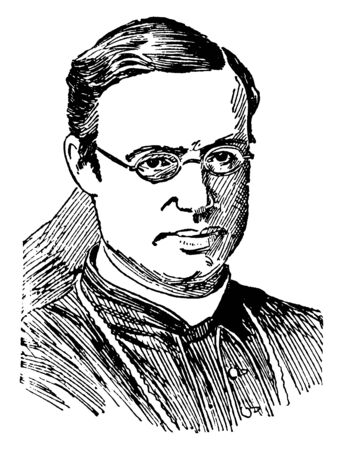 Archbishop Michael Corrigan, 1839-1902, he was an American prelate of the Roman catholic church and third archbishop of New York from 1885 to 1902, vintage line drawing or engraving illustration
