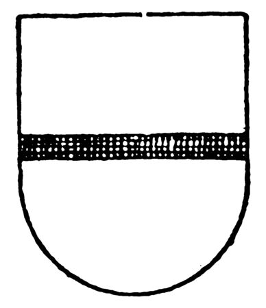 Argent Ordinary is a barrulet sable, vintage line drawing or engraving illustration.