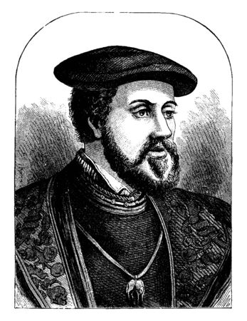 Charles V, Emperor of Germany, Charles V,  1500-1558, he was the Holy Roman Emperor, the king of Spain, and the emperor of Germany, vintage line drawing or engraving illustration