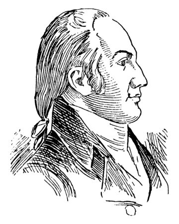 Aaron Burr, 1756-1836, he was an American politician, third Vice President of the United States from 1801 to 1805, attorney general and U.S. senator from the state New York, vintage line drawing or engraving illustration