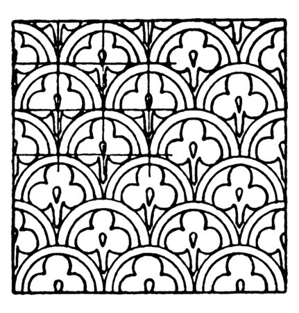 Chinese Enamel Pattern is a design that uses metal fillets, vintage line drawing or engraving illustration.