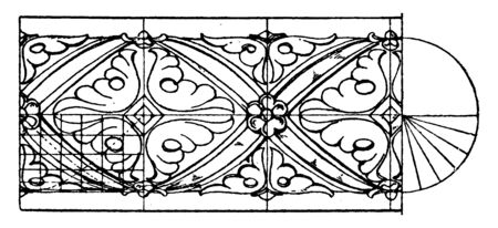 Medieval Enrichment Torus Moulding is a 13th century decoration, perfect for pouches, journal covers, vintage line drawing or engraving illustration. Stock Vector - 133004684