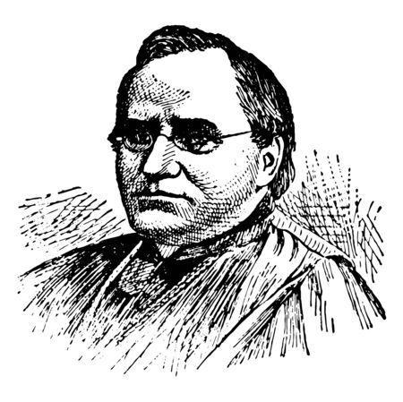 Archbishop Tache, 1823-1894, he was a Canadian Roman Catholic priest, missionary of the Oblate order and author, vintage line drawing or engraving illustration