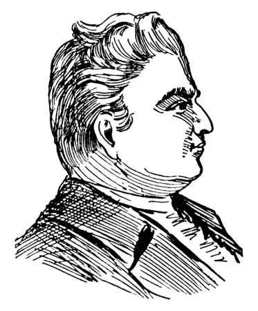 Ethan Allen, 1738-1789, he was one of the founders of the U.S. state of Vermont, he was politician, businessman, lay theologian, and philosopher, vintage line drawing or engraving illustration