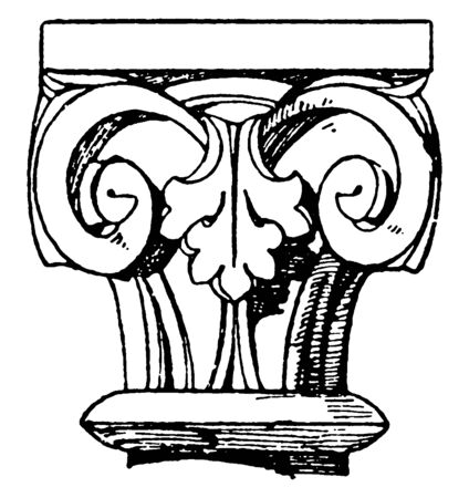Romanesque Capital, is a simple design, that is reminiscent of the Antique style, vintage line drawing or engraving illustration.