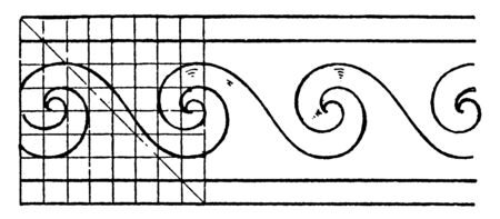 Evolute Spiral Painting is a wave pattern, it was used on the borders, vintage line drawing or engraving.