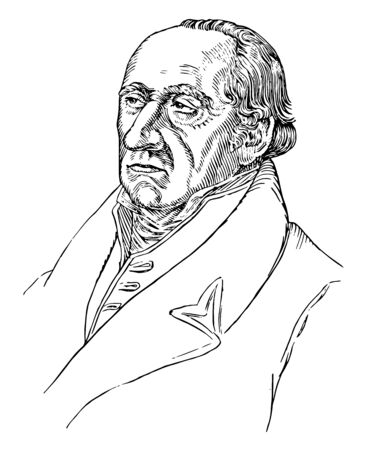 Baron vom Stein, 1757-1831, he was a Prussian statesman who introduced the Prussian reforms that paved the way for the unification of Germany, vintage line drawing or engraving illustration