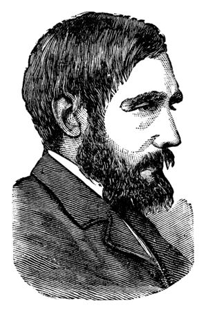 John Dillon, 1851-1927, he was an Irish politician from Dublin, member of parliament for over 35 years and last leader of the Irish parliamentary party, vintage line drawing or engraving illustration 向量圖像