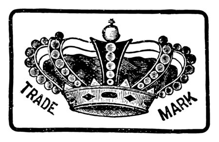 Crown were much used by both the classical nations, vintage line drawing or engraving illustration.